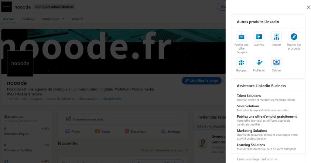 Créez votre page LinkedIn entreprise